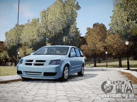 Dodge Grand Caravan SXT 2008 для GTA 4 вид сверху