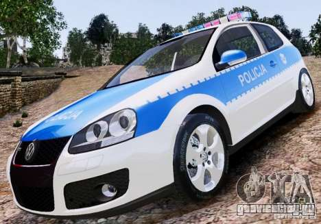 Volkswagen Golf V Polish Police для GTA 4