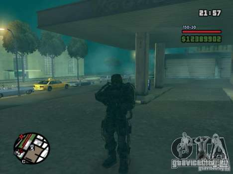 Военый сталкер в экзоскелете для GTA San Andreas второй скриншот