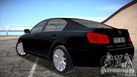 Lexus GS430 для GTA San Andreas вид справа