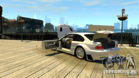 BMW E46 M3 GTR Sport для GTA 4 вид сверху