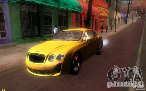Bentley Continental SS для GTA San Andreas вид слева
