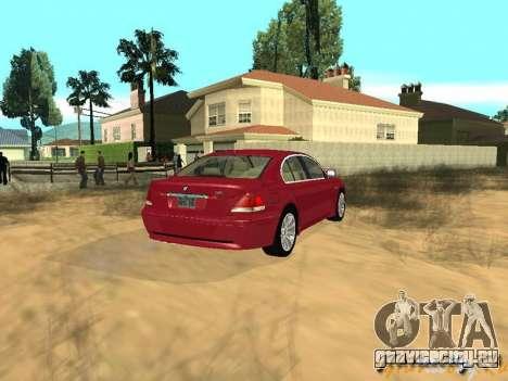 BMW 760I 2002 для GTA San Andreas вид изнутри