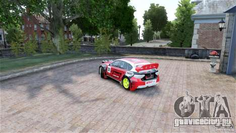 Subaru Impreza WRX STI RALLYCROSS Eibach Springs для GTA 4 вид слева