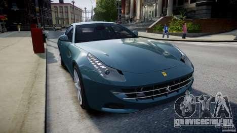 Ferrari FF 2012 для GTA 4 вид изнутри
