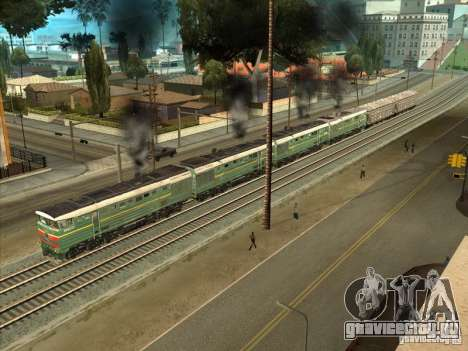 4ТЭ10С-0013 для GTA San Andreas вид сзади слева