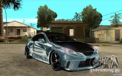 Hyundai Genesis Tuning для GTA San Andreas вид сзади
