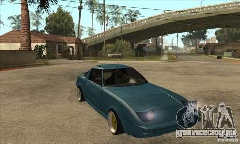Mazda RX7 SA22C для GTA San Andreas вид сзади