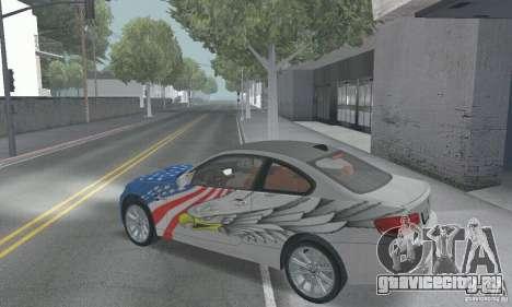 BMW M3 E92 Stock для GTA San Andreas вид сверху