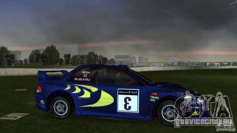 Subaru Impreza 22B Rally Edition для GTA Vice City вид справа