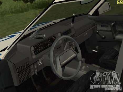 ВАЗ 21099 ДПС для GTA San Andreas вид справа