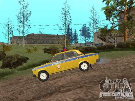 ВАЗ 2107 ГАИ для GTA San Andreas вид слева