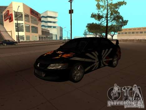 Mitsubishi Lancer Evolution 8 для GTA San Andreas вид сверху