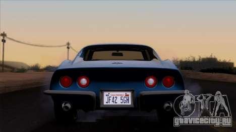 Chevrolet Corvette C3 Stingray T-Top 1969 v1.1 для GTA San Andreas вид изнутри