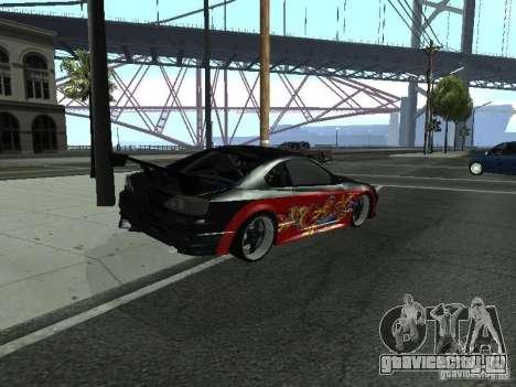Nissan S15 vDragon для GTA San Andreas вид сзади слева