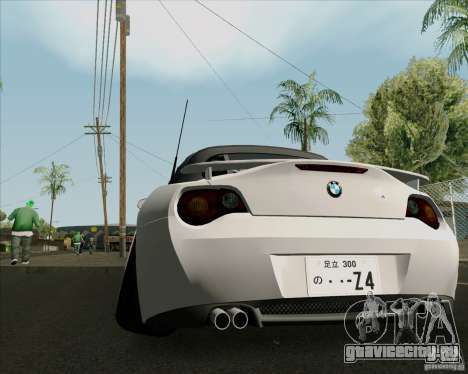 BMW Z4 Hellaflush для GTA San Andreas вид справа