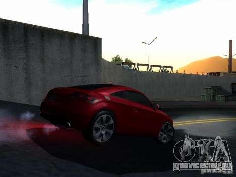 Audi TT 2009 v2.0 для GTA San Andreas вид изнутри