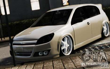 Opel Astra для GTA 4 вид сзади