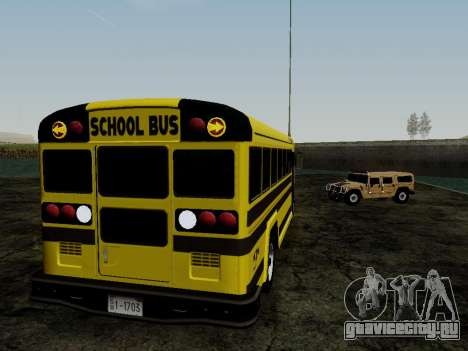 International Harvester B-Series 1959 School Bus для GTA San Andreas вид сзади