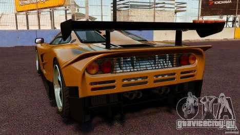 McLaren F1 для GTA 4 вид сзади слева
