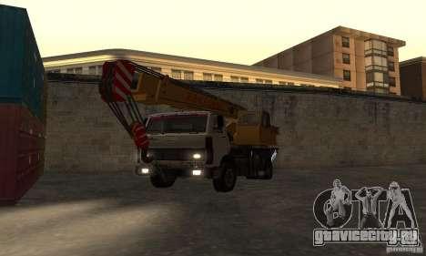 MAZ Автокран для GTA San Andreas вид сзади