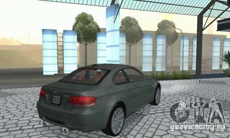 BMW M3 E92 Stock для GTA San Andreas вид сзади слева
