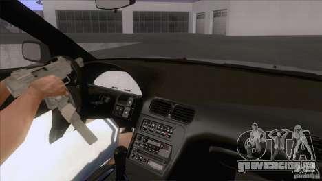 Nissan Sil80 для GTA San Andreas вид изнутри