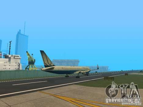 Boeing 767-300 United Airlines New Livery для GTA San Andreas вид справа