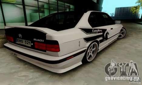 BMW E34 540i Tunable для GTA San Andreas вид сзади