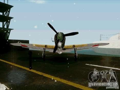 Японский самолёт для GTA San Andreas вид сзади