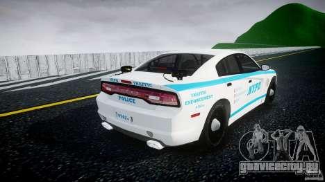 Dodge Charger NYPD 2012 [ELS] для GTA 4 вид сбоку