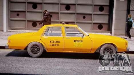 Chevrolet Impala Taxi 1983 [Final] для GTA 4 вид сзади слева