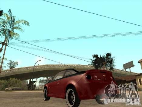Chevrolet Cobalt ss Tuning для GTA San Andreas вид сзади слева