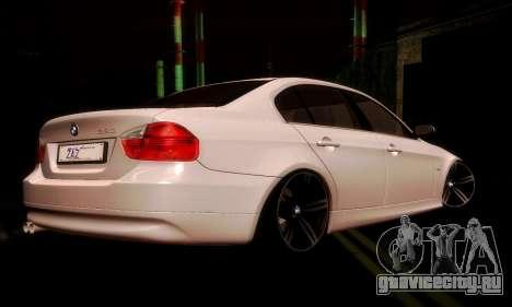 BMW 330 E90 для GTA San Andreas вид справа