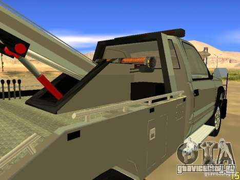 GMC Sierra Tow Truck для GTA San Andreas вид сзади