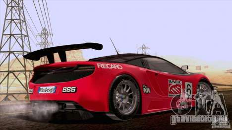 McLaren MP4-12C Speedhunters Edition для GTA San Andreas вид сверху