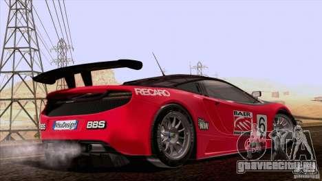 McLaren MP4-12C Speedhunters Edition для GTA San Andreas вид сверху