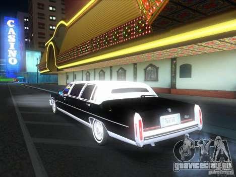 Cadillac Fleetwood Limousine 1985 для GTA San Andreas вид сзади