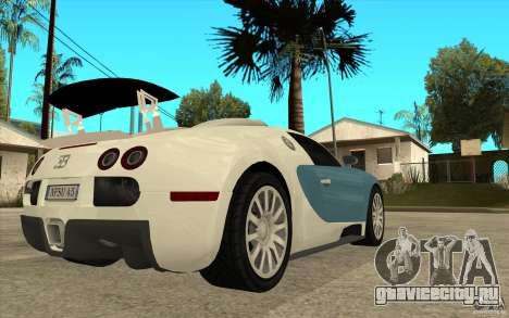 Спойлер для Bugatti Veyron Final для GTA San Andreas четвёртый скриншот