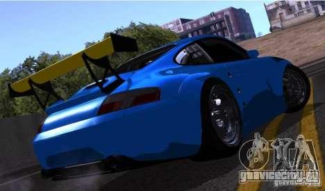 Porsche 911 GT3  RWB для GTA San Andreas вид изнутри