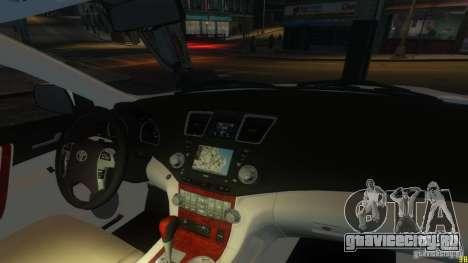 Toyota Highlander 2012 v2.0 для GTA 4 вид сбоку