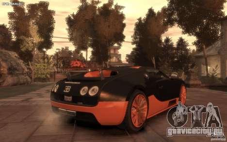 Bugatti Veyron Super Sport 2010 для GTA 4 вид слева