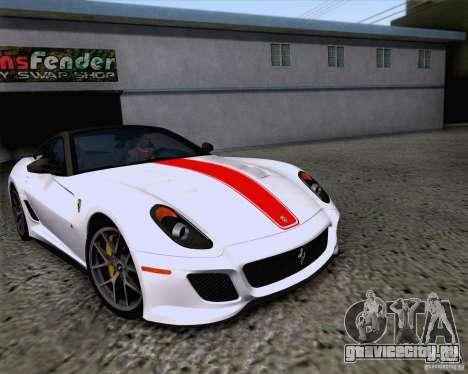 Ferrari 599 GTO 2011 v2.0 для GTA San Andreas вид изнутри