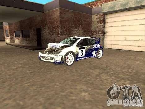 Peugeot 206 WRC из Richard Burns Rally для GTA San Andreas вид сбоку