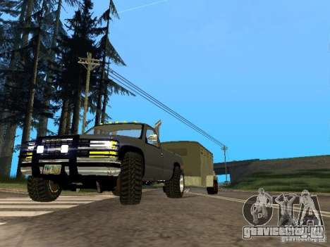 Трейлер к Chevrolet Silverado 2012 для GTA San Andreas вид слева