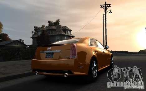 Cadillac CTS-V 2009 для GTA 4 вид слева
