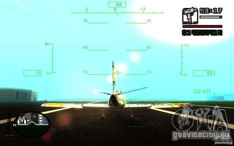 F 86 Sabre для GTA San Andreas вид сбоку