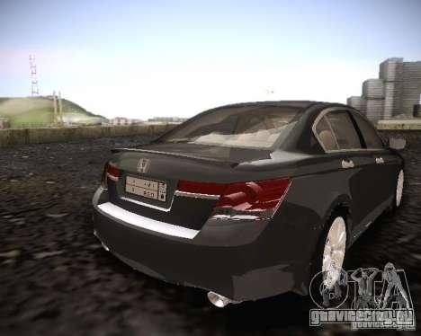 Honda Accord 2011 для GTA San Andreas вид сзади слева