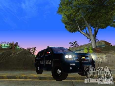 Chevrolet Tahoe 2008 Police Federal для GTA San Andreas вид сзади