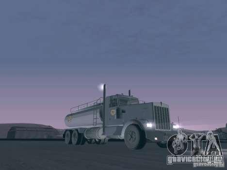 Kenworth Petrol Tanker для GTA San Andreas вид слева